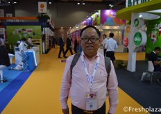 Henry Wang from Jiutai Modern Agriculture Co., Ltd. His company is specialised in growing and exporting pomelo, furthermore, also imports Polish apples.