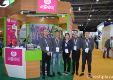 Cherry (middle) with her team from Zhejiang RainDew Fruit Co., Ltd.