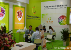 Jeffery Chen from Guangzhou New Origin Fresh Co.,Ltd. They focus on importing fresh fruits from Australia, South Africa and South America etc. And they bring the fruit to markets in China and South East Asia.