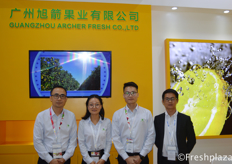 Louis Liang, Msr. Zhou, Leo Chen and colleague from Guangzhou Archer Fresh Co., Ltd. They import and export high quality fruits at the Chinese market, with main products grape, cherry and citrus.