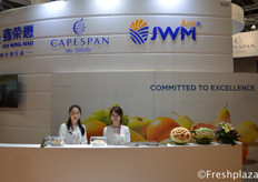 Kerry Yuan and Coco Tong from Joy Wing Mau ready to welcome visitors at their booth.