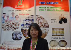 Jessica Li from Easiland Commercial Co.,Ltd. Specialised in exporting garlic, fresh or processed worldwide.