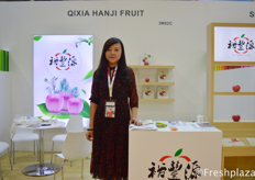 Ma Jia from Qixia Hengyuan Fruit & Vegetable, specialised in apple production and export to more than 10 countries.