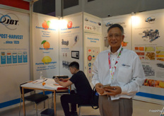 Mr. Alvin G. Chneg from JBT FoodTech. This is a food technology provider based in the US, the company's service including coating & cleaners, decay control, packaging technologies and produce identification.