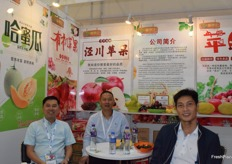 Mr Fu Shaosheng is leading the team at the booth. Jing Chuan Long Yuan Hong (Fu Yuan Hong) Fruits Trading Co., Ltd's main products including apples and melons.