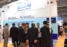 Networking event at the booth of Shekou port on 5 September.