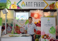 Mr Tony Nguyen is presenting Ant Farm. The company supplies a variety of fresh exotic fruits from Vietnam.