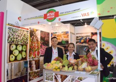 Mr Dennis Nghia Than Trong (a member of the board) and his colleagues from Viet Agricultural Science.