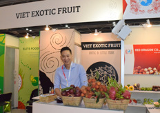 Mr Huynh Phuc Duy, the director of Viet Exotic Fruit Co., Ltd. The company supplies a variety of fresh exotic fruits from Vietnam.