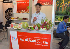 Mr Mai Xuan Thin (CEO) of Red Dragon Co., Ltd. The company supplies fresh fruits from Vietnam including dragon fruit and lemons.