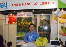 Mr Nguyen Huu Thien, the manager at Hand & Hand Co., Ltd. Banana is their main product.