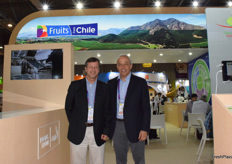 Mr Carlos Gruzat from the Chile Kiwifruit Committee and Mr Andres Armstrong from the Chile Blueberry Committee.