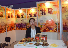 Mrs Zhu Wenjie from Tianjin Yandu Chestnut Foods Co., Ltd. Chestnut is their main product.