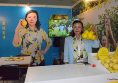 Mrs Yin Xueqiong from Sichuan Anyue County Hoseng Lemon Industry Co., Ltd. The company has lemon production base in Anyue, Sichuan.