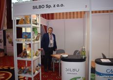 Maciej Zuchowski of Silbo. They produce packaging for onions and potatoes, among other produce.