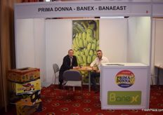 Siarhei Ruliak and Lukasz Lojewski representing Prima Donna, Banex and BanaEast. They deal in bananas.