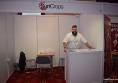 Remigiusz Garczarek of CargoSun was at the event to represent SunCrops.