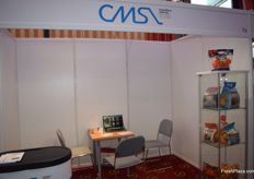 The stand of CMS; the exhibitioners were mostly participating in the speed-dating.