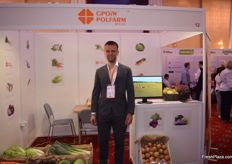 Michal Gulczynski of GPOiW Polfarm, they deal in all kinds of vegetables. Currently their carrots are being harvested.
