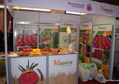 The Hazera stand displayed some healthy snacks on the counter.