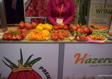 The healthy fruit and vegetable snacks on display at the Hazera stand