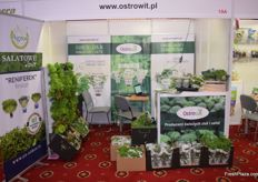 The Ostrowit stand with a variety of herbs on display