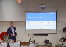 The RVO, Netherlands Enterprise Agency, gave a short presentation on the programs offered by the Dutch government to promote trade.