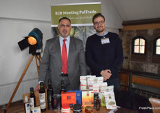 Samer Jarrar and Subhi Anabtawi of Al'Ard Palestinian Agri-Products Ltd. The company works with a variety of products and has a strong focus on improving conditions for growers in Palestine.
