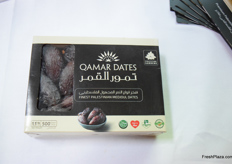 The 500 gram packaging for the Medjoul dates produced by Palestine Gardens can be found in many countries throughout the globe.