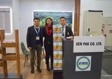 Ebubekir Tulpar and the Ser Pak team. They were presenting their plastic packaging, designed to pack fresh produce.