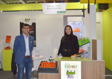 Omar and Wiam Baalla of Palm Export. The Moroccan trading company deals in tomatoes and mandarins.