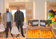 Marwan Abdelwahab and Fah Abdelwahab of Abd Elwahab Sons. The Egyptians deal mostly in citrus.