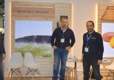 Mohamed Mohamady, Technical Manager and Mohamed Azmy, Logistivs Executive of Blue Nile, representing their brand Blue Nile Organic.