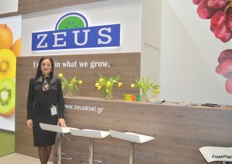 Christina Manossis of Greek kiwi exporter Zeus Kiwi S.A. The Corona-virus had a direct effect on their exports, so they'll be diverting towards the Malaysian markets.