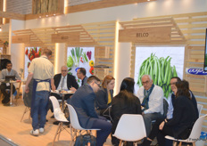 The Belco stand was full of meetings. The Egyptians deal in lots of vegetables.