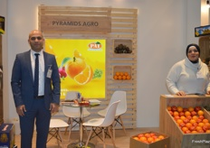 Sherif Mezar, Export Director of Pyramids Agro, from Egypt. They export citrus.