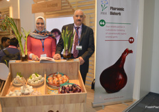 Heba Helmy, Marketing & Branding Specialist and Amr Helmy, Founder & Operation Director of Pharaonic Bioherbs. The Egyptian exporter deals in conventional and organic garlic and onions.