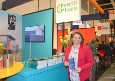 Anna Litwin, founder of Polish haskapberry trading company BlueHaskap, visiting the FreshPlaza stand.