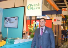 Habib Ben Gharbia, Managing Director of Mistral Shipping from Tunesia, visiting the FreshPlaza stand.