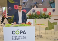 Marko Arsenovic, Sales Manager for Copa, who deal in Pannonian apples.