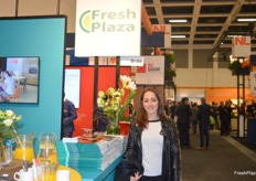 Inmaculada Duarte Garzon, Marketing Manager for Marcoser, visiting the FreshPlaza stand.