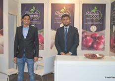 Paresh and Soham Bhalala of Bhalala Foods. The Indian grower and trader deals in onions and several vegetables.