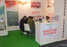 The Saghar Exports stand.