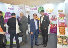 On the left is Kaushal Khakhar, CEO of Kay Bee exports, on the right is Karan Mange, Manager - Supply Chain. The Indian exporters deal in a wide variety of fruits and vegetables.