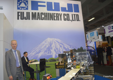 Rinze Jonkman is an account manager for Fuji Packaging, in the Benelux region. As always, Fuji had a very large stand to showcase their packing machinery.