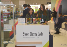The Sweet Cherry Lade stand. They deal in sweet cherries from Serbia.