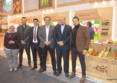 The Green Egypt staff. The Egyptian exporters deal in a wide variety of vegetables.