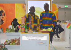Emmanuel Kwaku Darkey and Felix Yao M.Kamassah for the Vegetable Producers and Expoerts Association of Ghana. (VEPEAG). They said they had a lot of traffic during the exhibition.