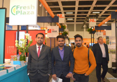Mayur Lonkar and Shivaji Kalaskar of Phalani Fresh from India, visiting the FreshPlaza stand. They deal in processed pomegranates amongst other exotic processed fruits.