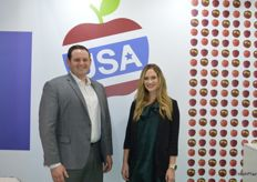 Will Callis from US Apple Export Council and Elisabeth Carranza from California Apple Commission.